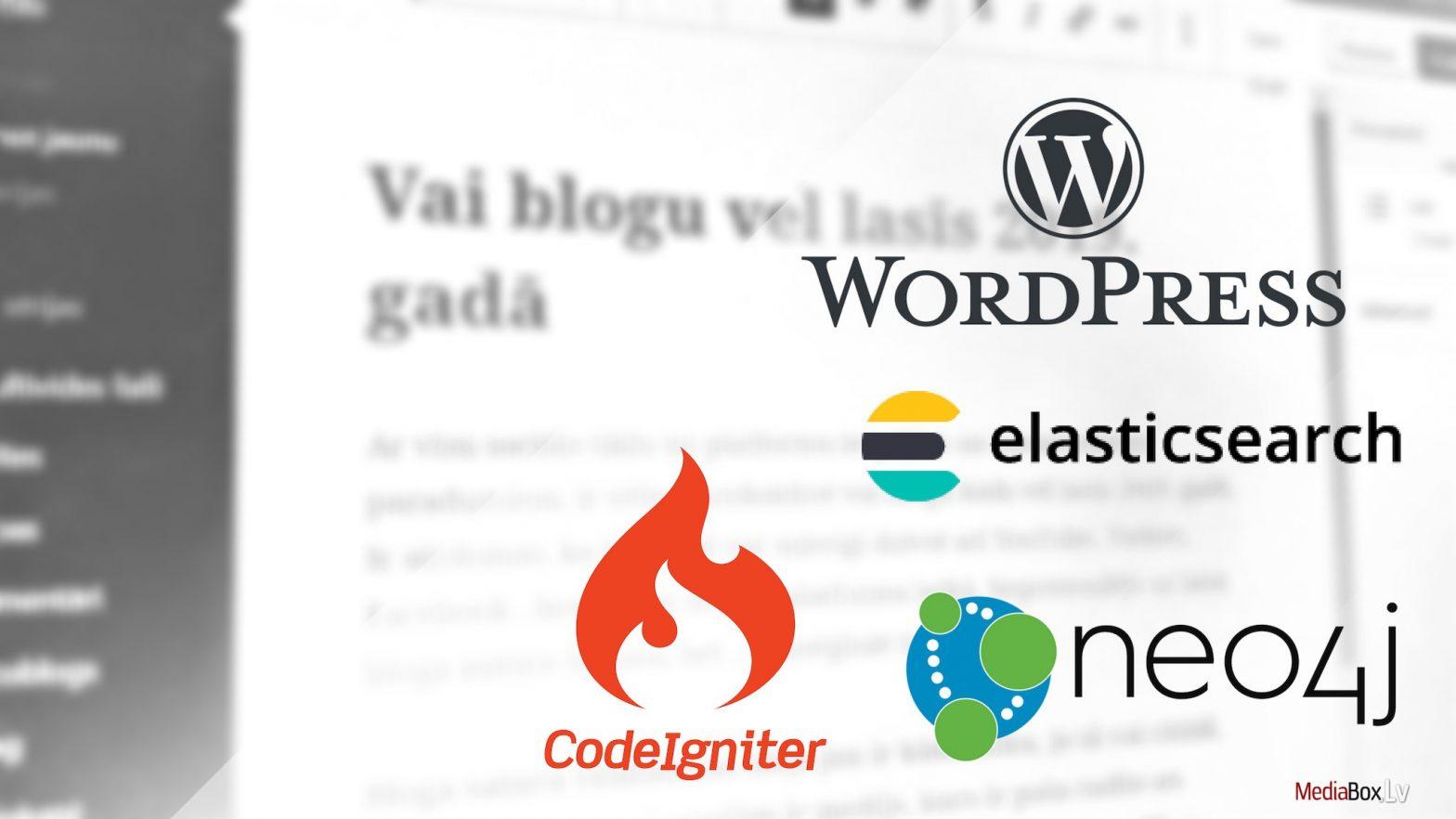 Web izstrāde: WordPress, Neo4j, CodeIgniter, Elasticsearch