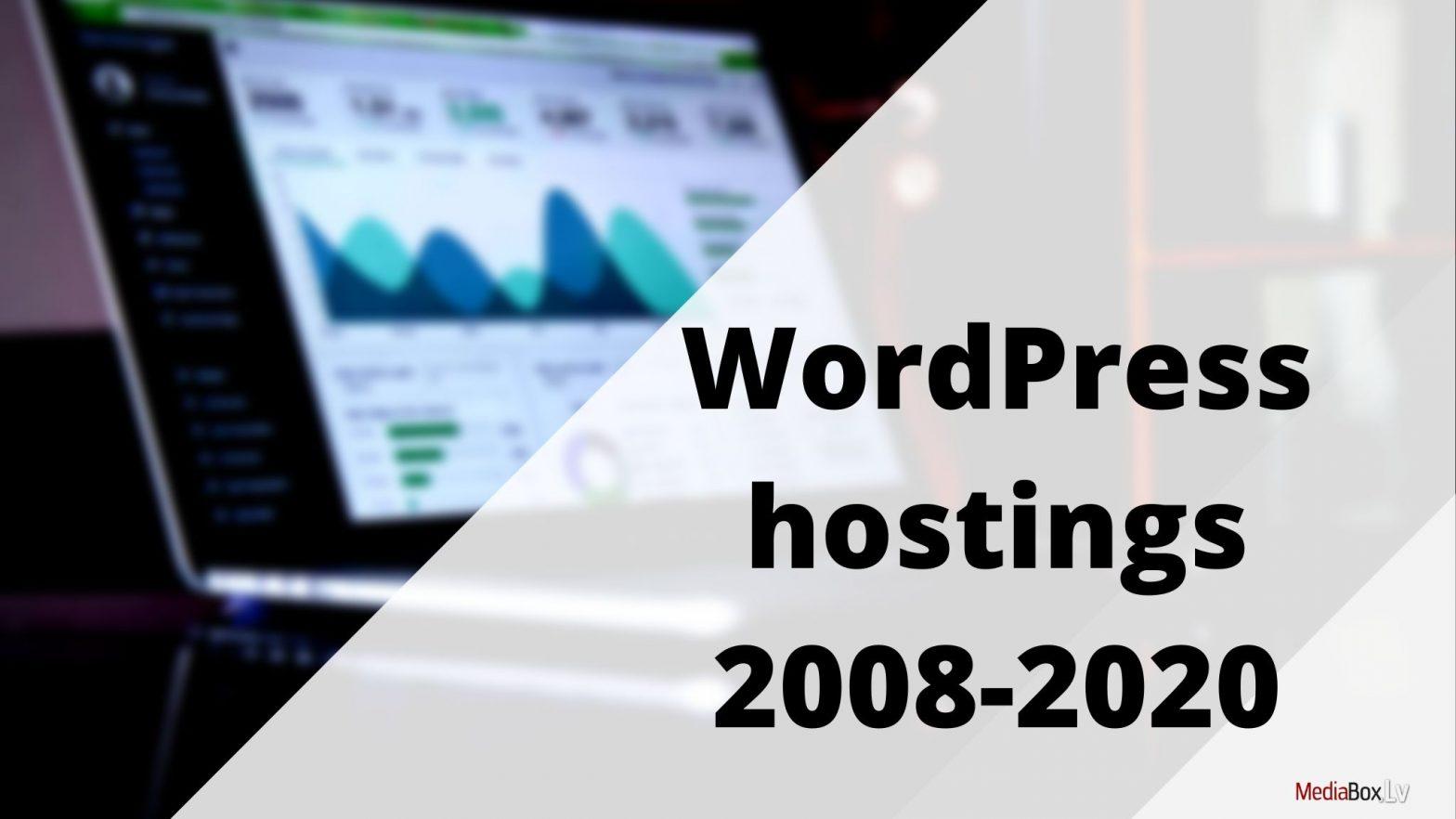 WordPress hostings 2008-2020